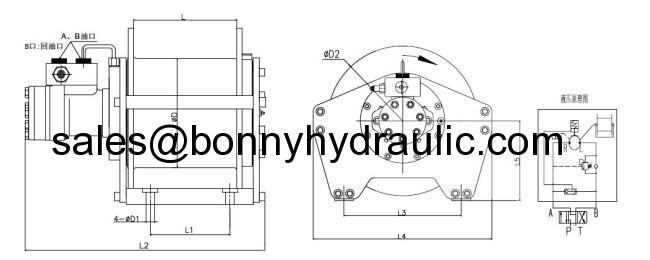 compact hydraulic winch crane winch