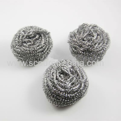 Stainless steel 410 430 or galvanized steel wire diam 0.08-0.7mm stainless steel cleaning ball spiral scourer