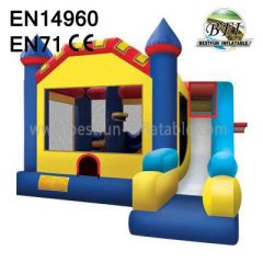 Inflatable Bounce House And Slide