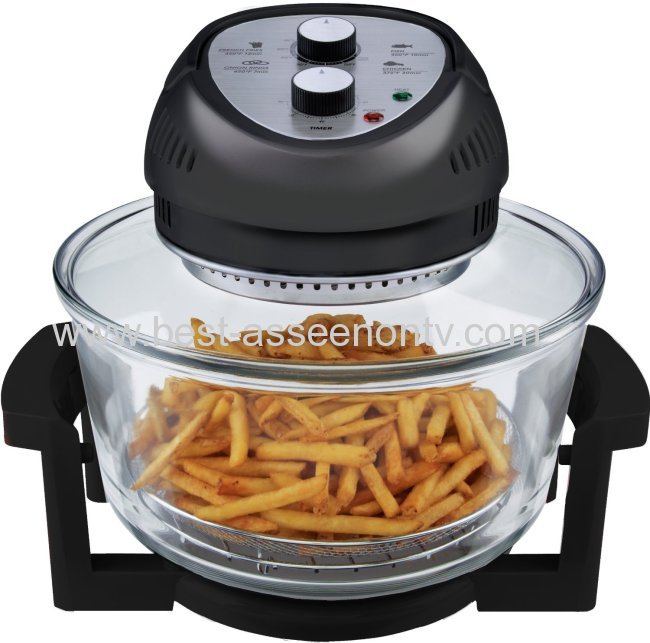 BIG BOSS 1300-Watt Oil-Less Fryer, 16-Quart Big Boss Rapid Wave Halogen Infrared Convection Countertop Oven