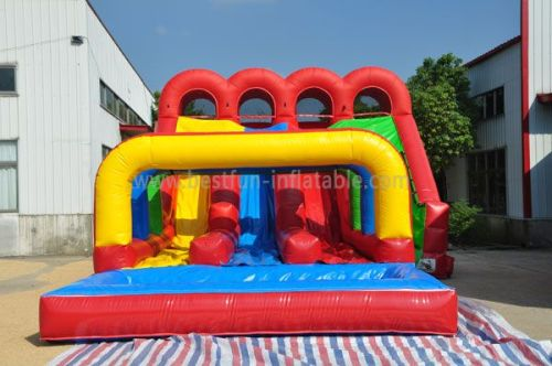 Red Inflatable Triple Lindy Water Slide