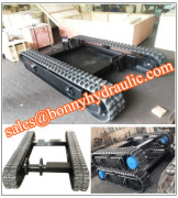 rubber crawler undercarriage track system