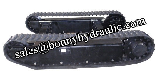 rubber track undercarriage with high climbing capacity