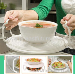 Folding Plastic Microwave Plate Tray