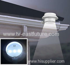 Solar 3 LED gutter light