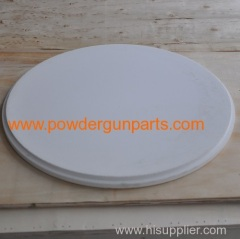 white sinter plate (fluiding board) in powder hopper