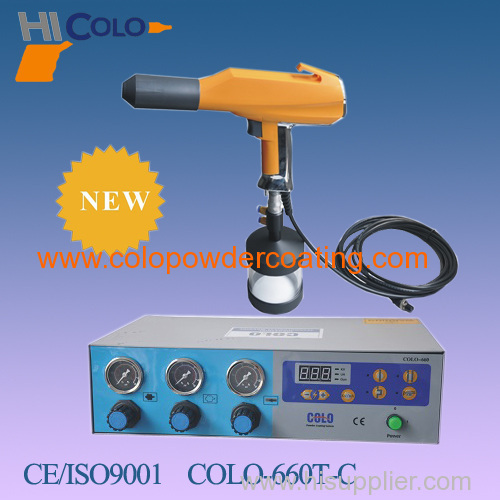 portable powder coating control unit