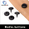 Safety belts webbing buttons