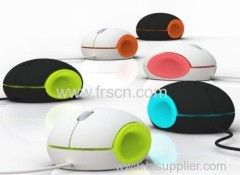multi-color wired usb mouse