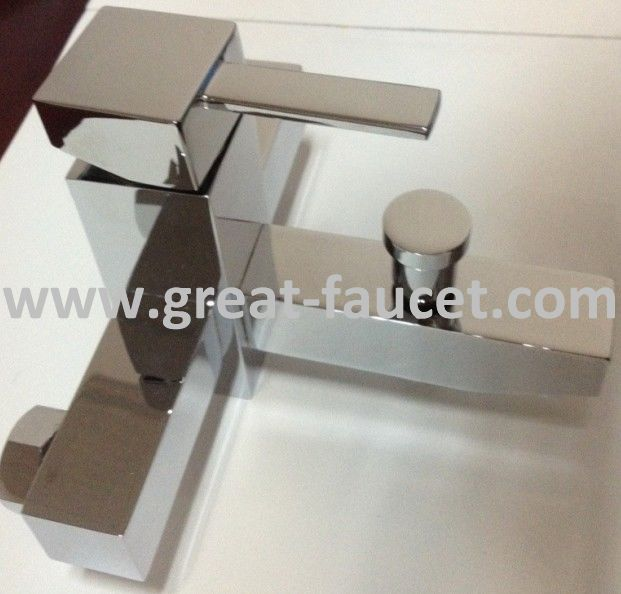 Square Bath Mixer With H58 Brass Material