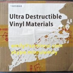 Ultra Destructible Vinyl Material