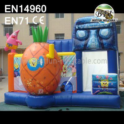 Inflatable Spongebob Castle and Slide