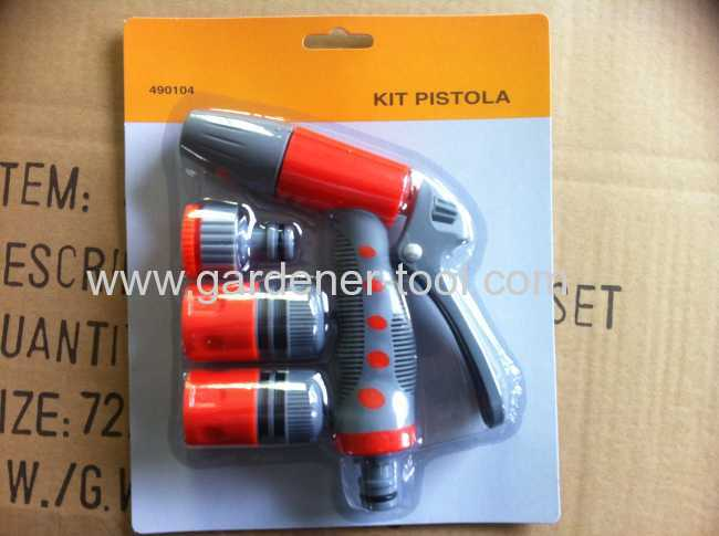 2-way garden trigger nozzle set with quick connectorfor garden irrigation