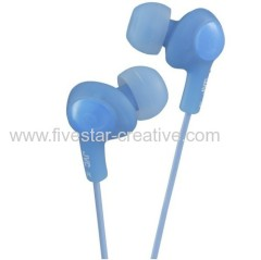 JVC HAFX5AE Gumy Plus Noise Isolating Inner Ear Headphone Blue
