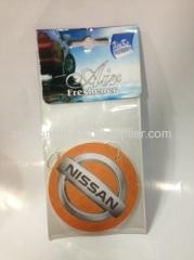 auto logo hanging paper car air freshener
