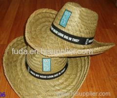 hollow straw hats with 7cm width brim