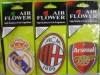 Arsenal paper car air freshener