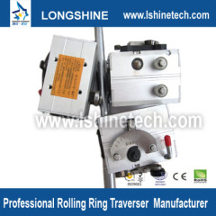 Traverse drive linear bearing rails