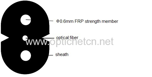 Indoor FTTH drop cable patchcord