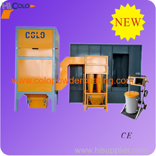 Electrostatic powder coat paint booth from china for Powder coating paint booth