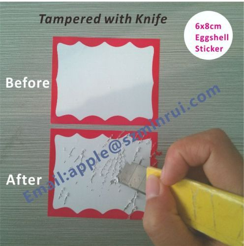Handwriting eggshell stickers cant remove