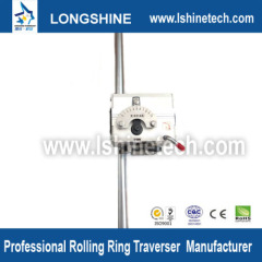 Rolling ring linear motion stepper actuator