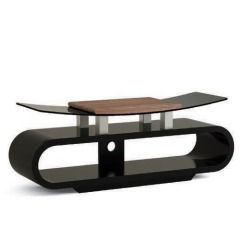Curved MDF Wood and Bending Glass TV Stands