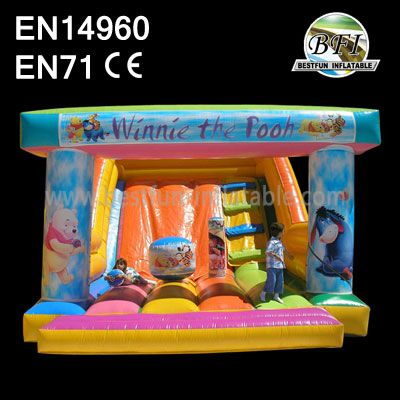 Cute Winnie the Pooh Inflatable Slides For Sale