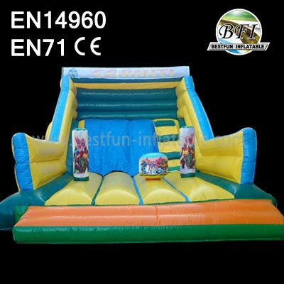 Big Inflatable Playground and Dry Slide for Kids