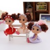 12cm flower hair band plastic doll confused doll