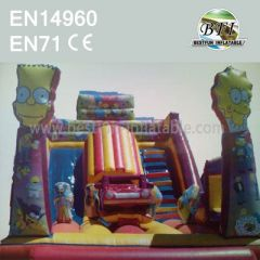 The Simpsons Inflatable Park Slide