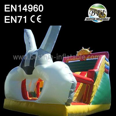 Lovely Bunny Inflatable Slide Bouncer Jumping