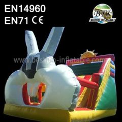 Bunny Inflatable Slide Bouncer Jumping