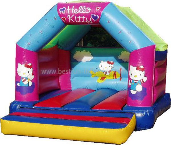 Hot Sale Colorful Inflatable Hello Kitty Bouncer