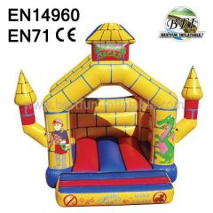Yellow Inflatable Dragon Castle