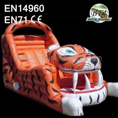 Tiger Inflatable Combo Bouncy And Slide