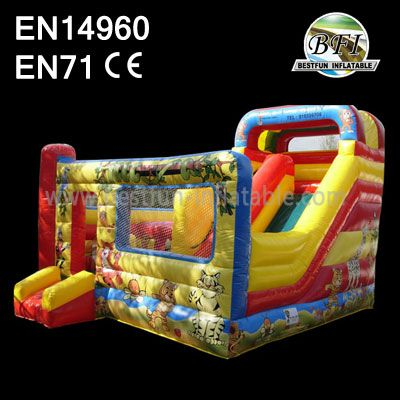High Quality Cute AnimalInflatable Slide