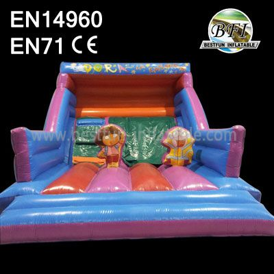 Colorful Inflatable Playground Slide For Rentals