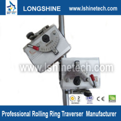 Rolling ring drive rotation to linear motion