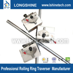 Rolling ring drive convert linear motion to rotational motion