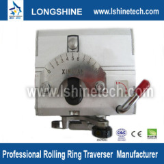 Polished shaft rolling ring drive linear motion actuator