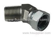 Hydraulic Male Pipe x Female Pipe Swivel 45° Elbow