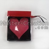 Red zipper bag Bag with heart logo Cosmetic display bag Cheap bag Custom bag with logo Color pvc bag