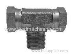 Hydraulic Male Pipe (NPTF) Branch Tee