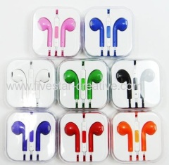 Colored New Earphone Headphone Cable Set with Remote Mic for Apple iPhone5G