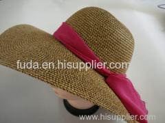 wide brim floppy straw beach hat