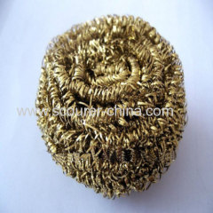 Quick Assured Quality brass spiral scourer/cleaning ball/sponge