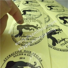 Water proof Round Transparent Labels With Costomized Logo