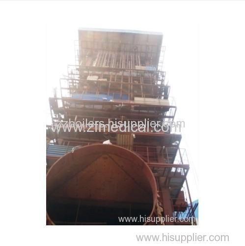 Vertical sinter cooler waste heat boilers