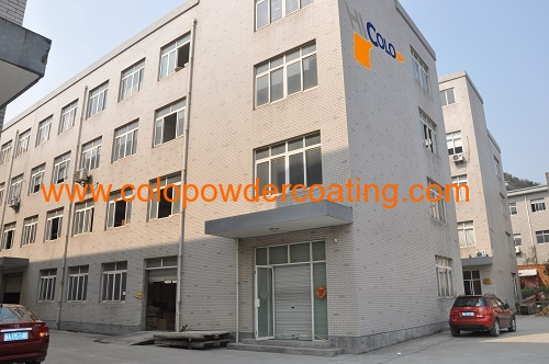 Electrostatic powder coating spraying gun